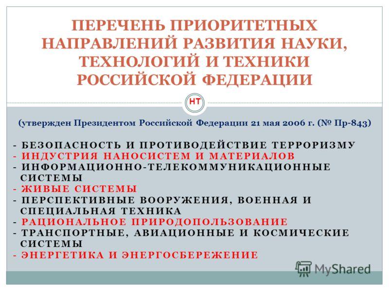 - БЕЗОПАСНОСТЬ И ПРОТИВОДЕЙСТВИЕ ТЕРРОРИЗМУ - ИНДУСТРИЯ НАНОСИСТЕМ И МАТЕРИАЛОВ - ИНФОРМАЦИОННО-ТЕЛЕКОММУНИКАЦИОННЫЕ СИСТЕМЫ - ЖИВЫЕ СИСТЕМЫ - ПЕРСПЕКТИВНЫЕ ВООРУЖЕНИЯ, ВОЕННАЯ И СПЕЦИАЛЬНАЯ ТЕХНИКА - РАЦИОНАЛЬНОЕ ПРИРОДОПОЛЬЗОВАНИЕ - ТРАНСПОРТНЫЕ, А