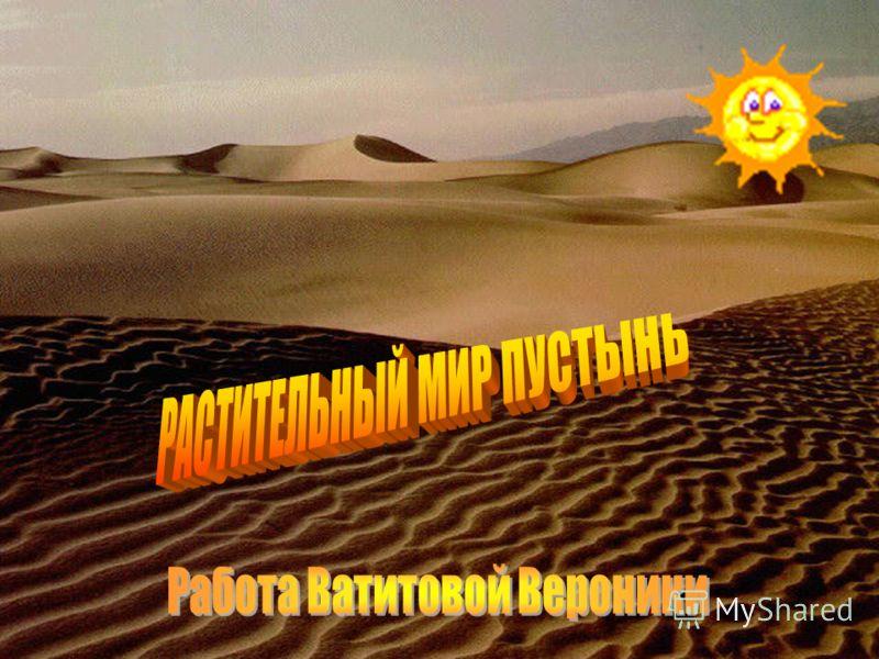 Растительный мир пустынь Работа ученицы 4 класса МОУ Еласовская СОШ Ватитовой Вероники
