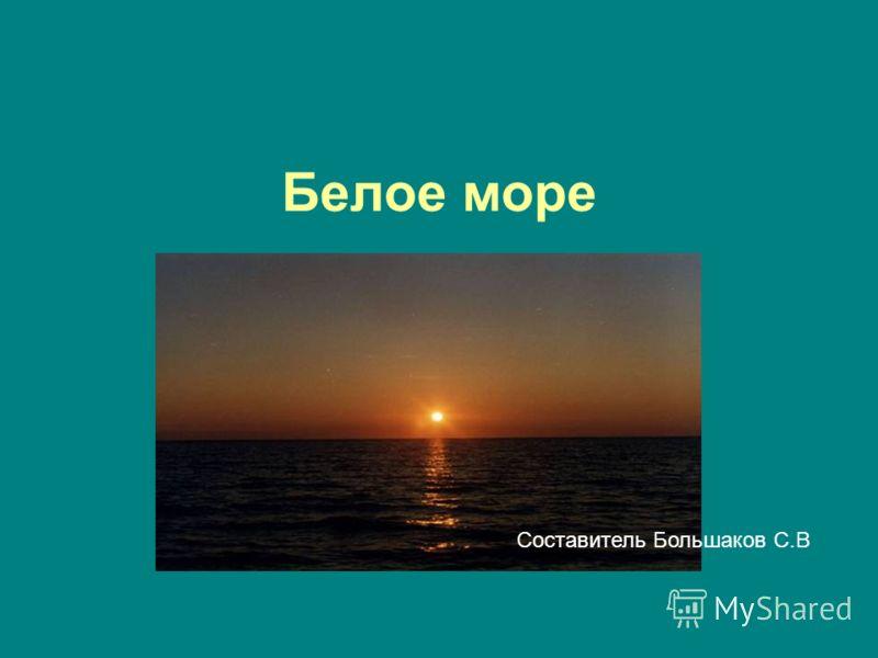 Белое море Составитель Большаков С.В