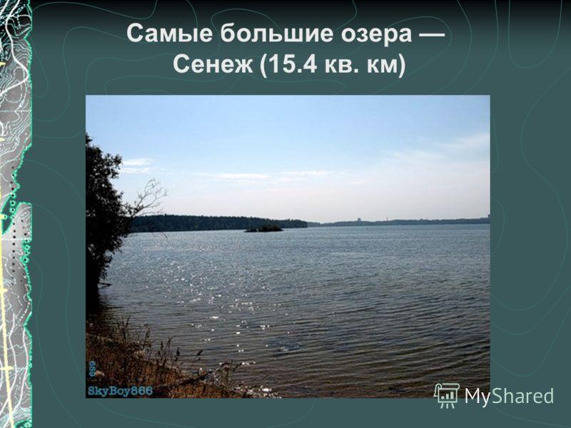 Самые большие озера Сенеж (15.4 кв. км)