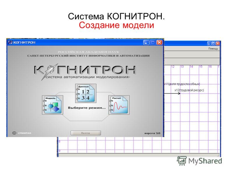 Система КОГНИТРОН. Создание модели