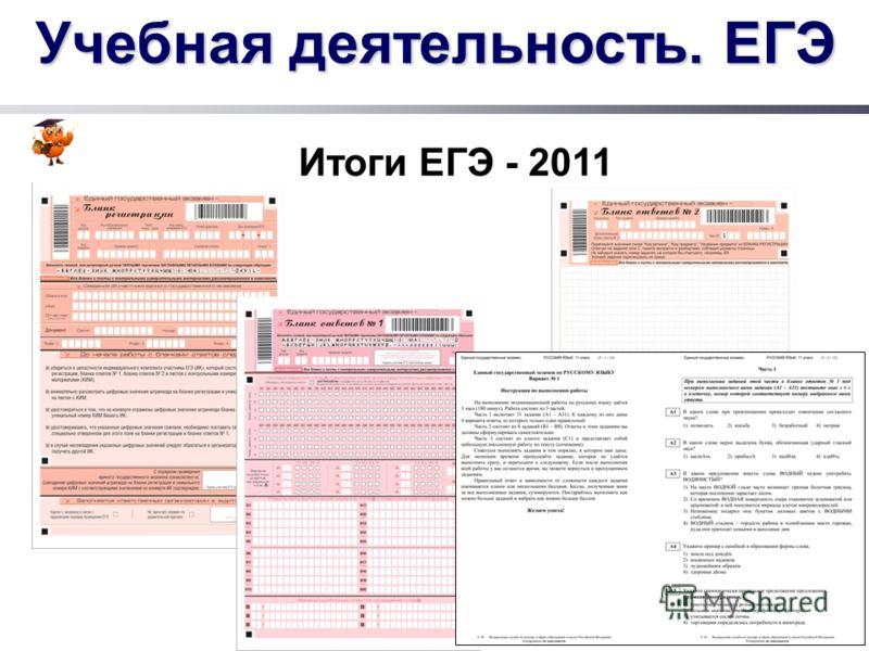 Учебная деятельность. ЕГЭ Итоги ЕГЭ - 2011
