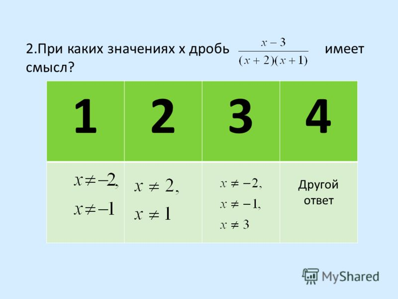 3-вариант 1.Какое из данных выражений является целым? 1234 1 и 3Ни одноговсе Другой ответ