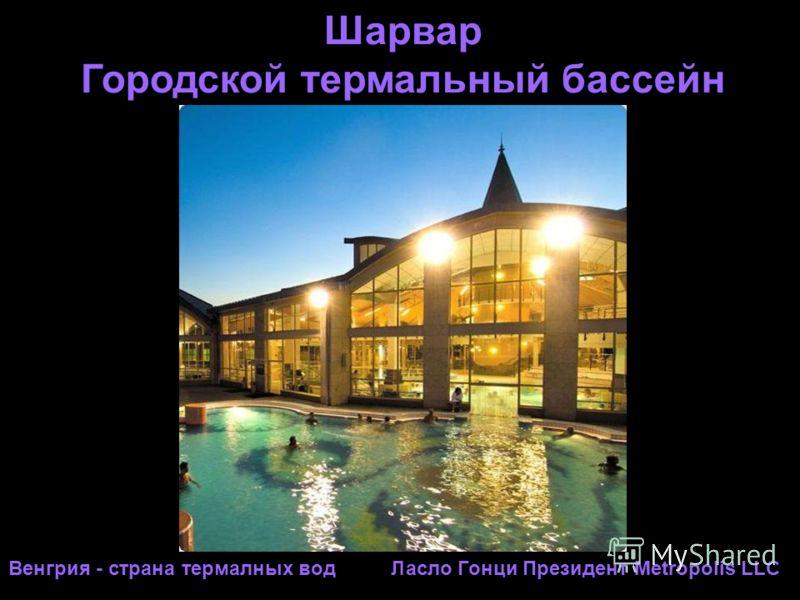 Шарвар Городской термальный бассейн Венгрия - страна термалных вод Ласло Гонци Президент Metropolis LLC