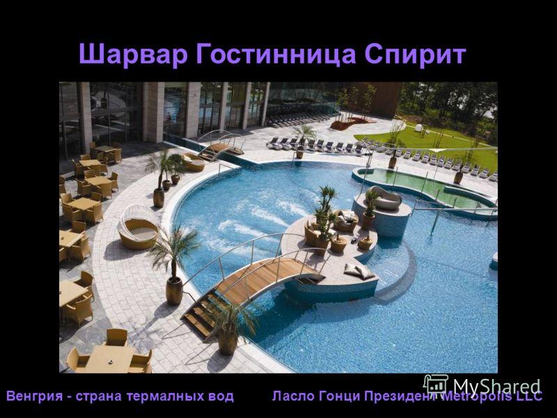 Шарвар Гостинница Спирит Венгрия - страна термалных вод Ласло Гонци Президент Metropolis LLC