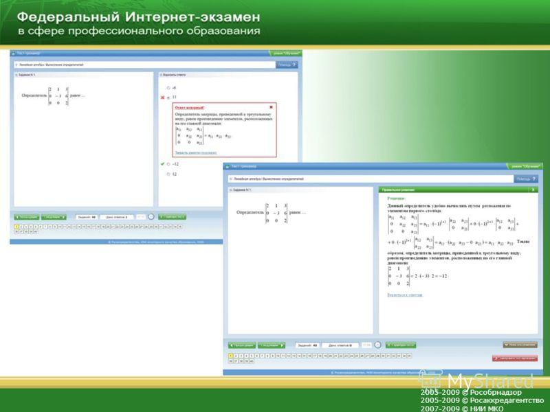 2005-2009 © Рособрнадзор 2005-2009 © Росаккредагентство 2007-2009 © НИИ МКО Количество учреждений высшего образования