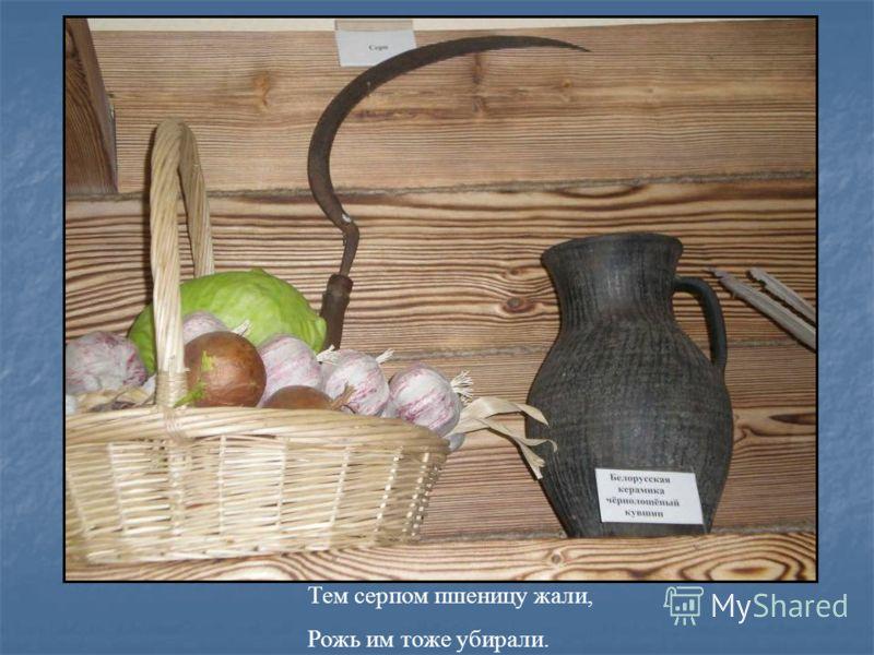 Тем серпом пшеницу жали, Рожь им тоже убирали.