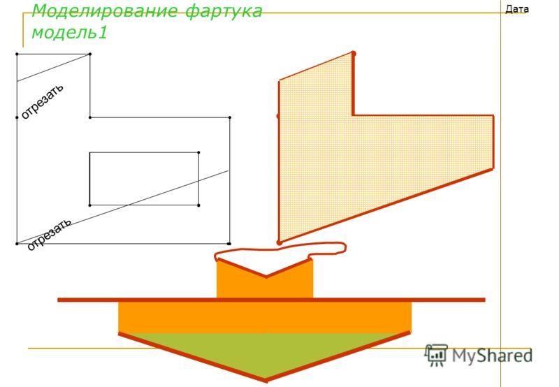 Моделирование фартука модель1 Дата отрезать