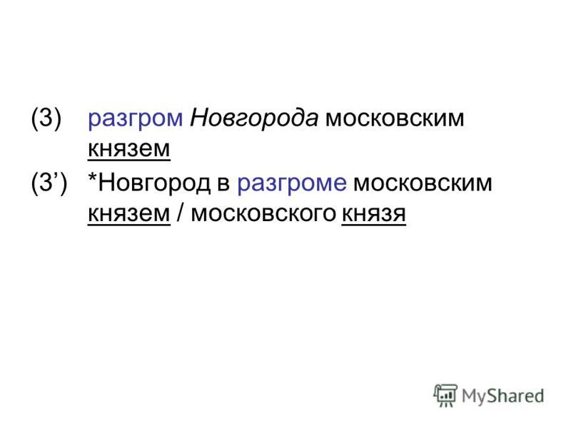 (3)разгром Новгорода московским князем (3)*Новгород в разгроме московским князем / московского князя