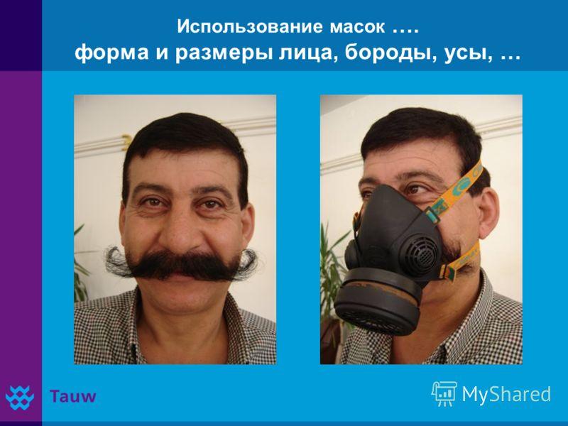 Использование масок …. форма и размеры лица, бороды, усы, …