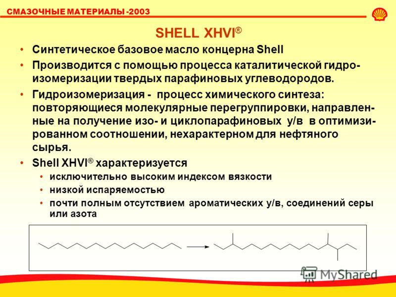 СМАЗОЧНЫЕ МАТЕРИАЛЫ -2003 ПОЧЕМУ «СИНТЕТИКА» ЛУЧШЕ «Синтетические» масла имеют более однородный состав, адаптированный к условиям применения. % молекул Молекулярная масса Минеральное масло ПАО % об. ПАО Минеральное масло Температура кипения