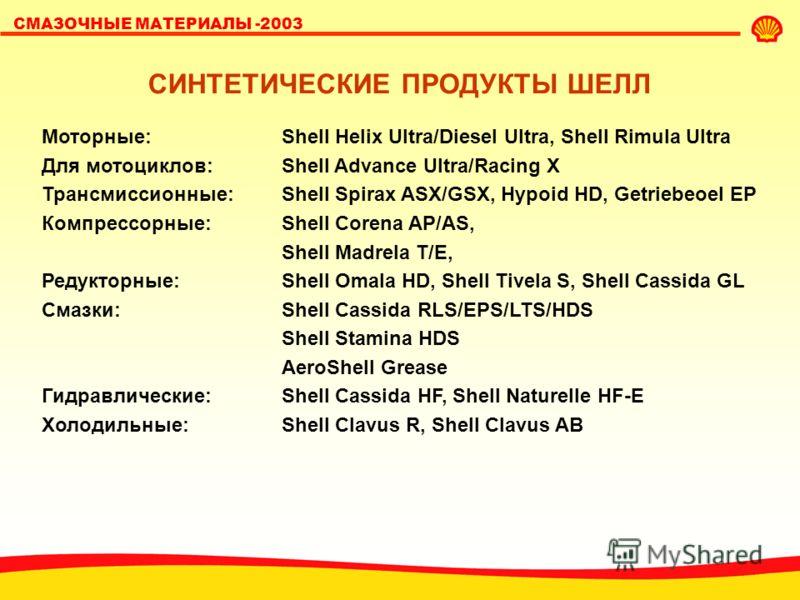 СМАЗОЧНЫЕ МАТЕРИАЛЫ -2003 CИНТЕТИКА, ПОЛУСИНТЕТИКА, НА СИНТЕТИЧЕСКОЙ ОСНОВЕ… 100% 50% минералка легированная минералка полу- синтетика на синтети- ческой основе 100% синтетика цена Или синтетическая технология и даже синтетическое