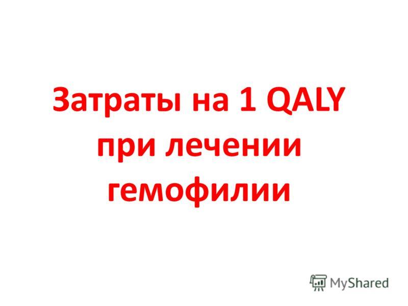 Затраты на 1 QALY при лечении гемофилии