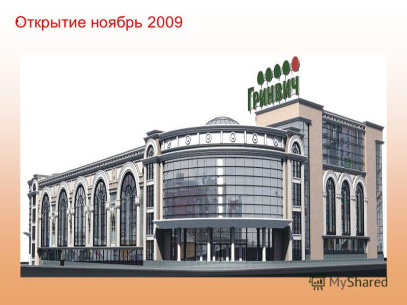 . Открытие ноябрь 2009