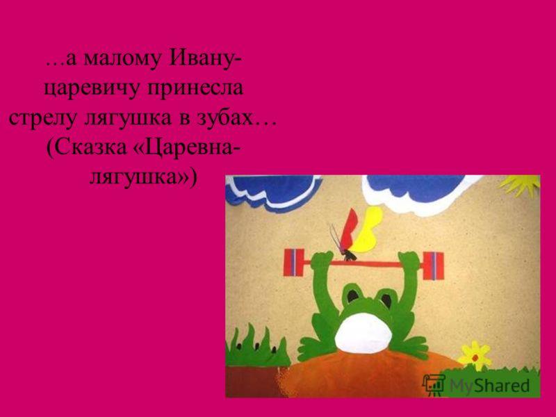 … а малому Ивану- царевичу принесла стрелу лягушка в зубах… (Сказка «Царевна- лягушка»)