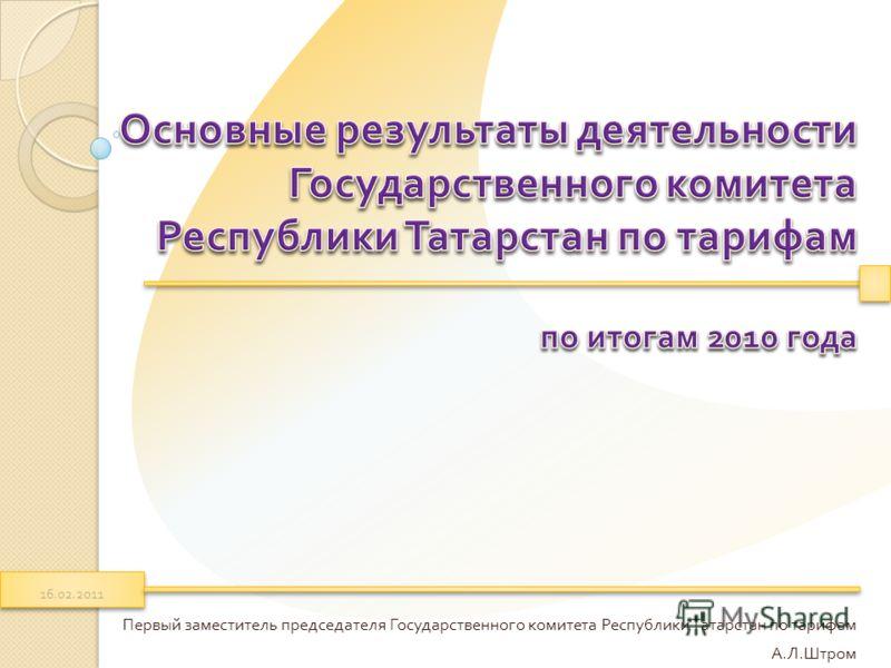 Первый заместитель председателя Государственного комитета Республики Татарстан по тарифам А. Л. Штром 16.02.2011