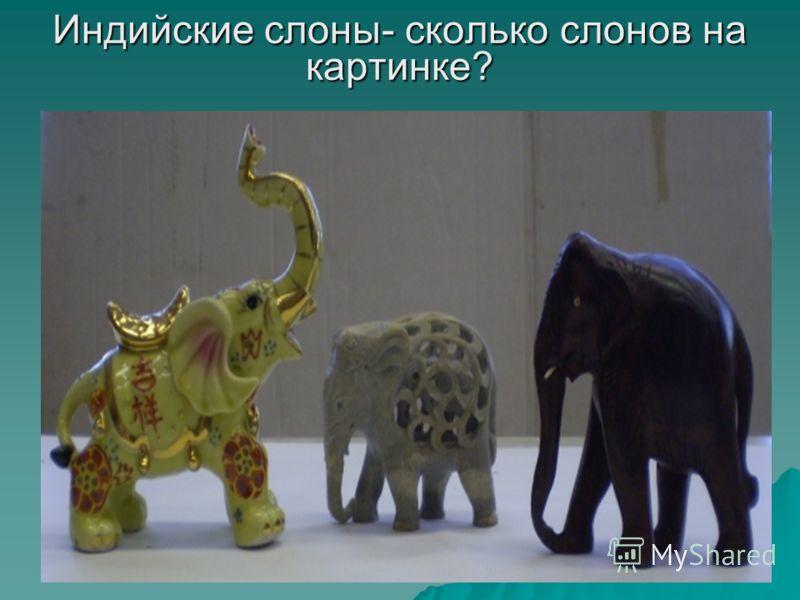 Индийские слоны- сколько слонов на картинке?