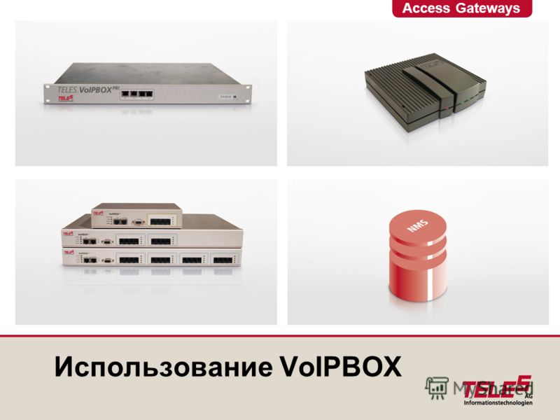 Access Gateways Использование VoIPBOX