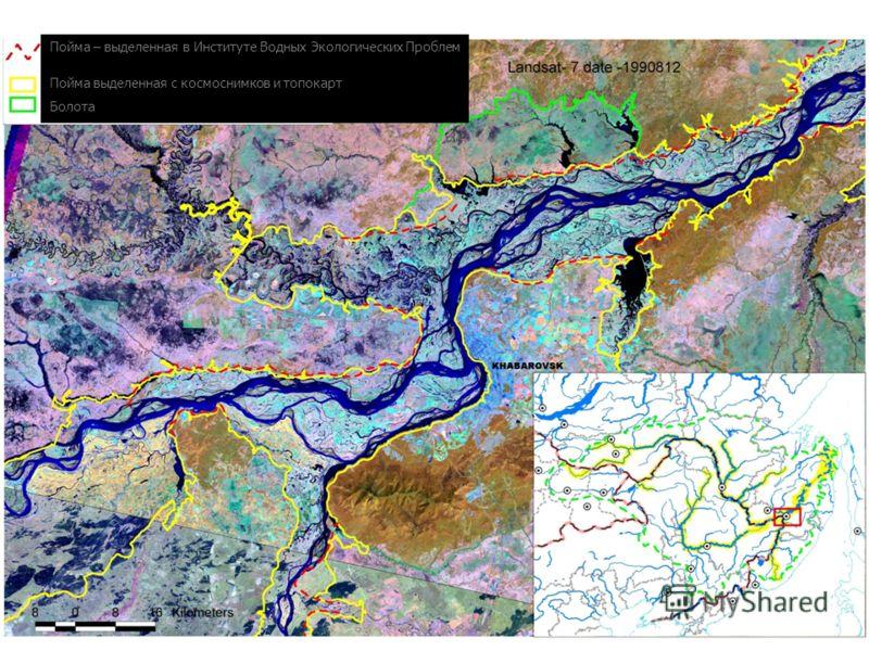 Пойма – выделенная в Институте Водных Экологических Проблем Пойма выделенная с космоснимков и топокарт Болота