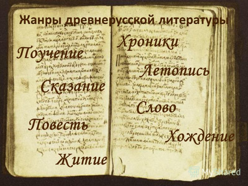 Хроники Поучение Слово Повесть Летопись Житие Хождение Сказание