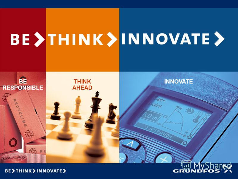 BE RESPONSIBLE THINK AHEAD INNOVATE