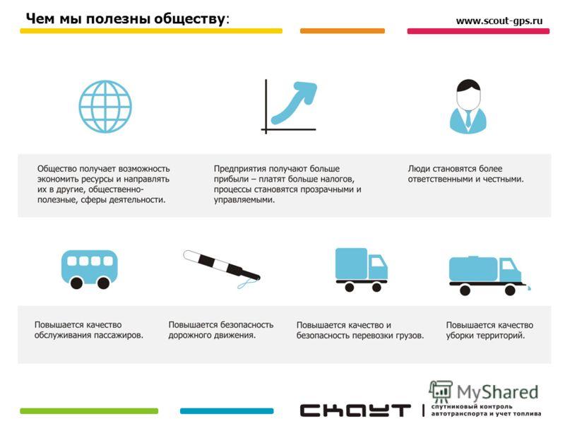 www.scout-gps.ru Чем мы полезны обществу: