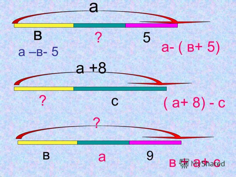 а –(в+с)=(а-в)-с=( а- с)- в 143- ( 96+ 43)= (143- 43) -96=4 376- (126+ 6)=(376-126) + 6= 250 256 72- 45=72-(40+5)= ( 72-40)-5=32-5=27