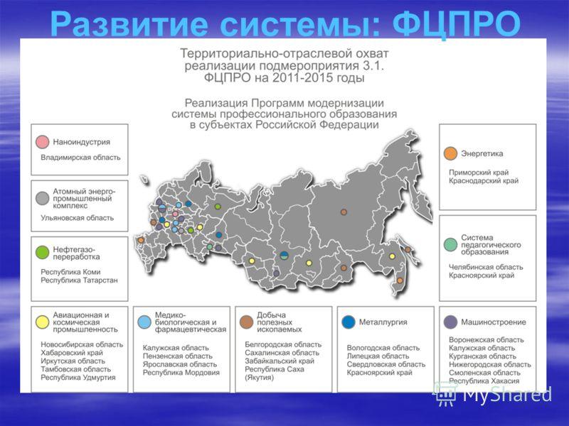 Развитие системы: ФЦПРО