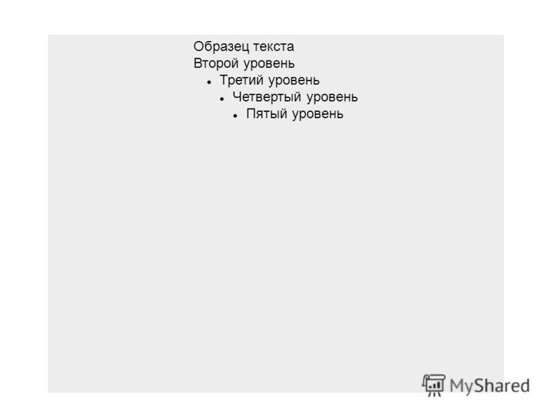 Образец текста Второй уровень Третий уровень Четвертый уровень Пятый уровень