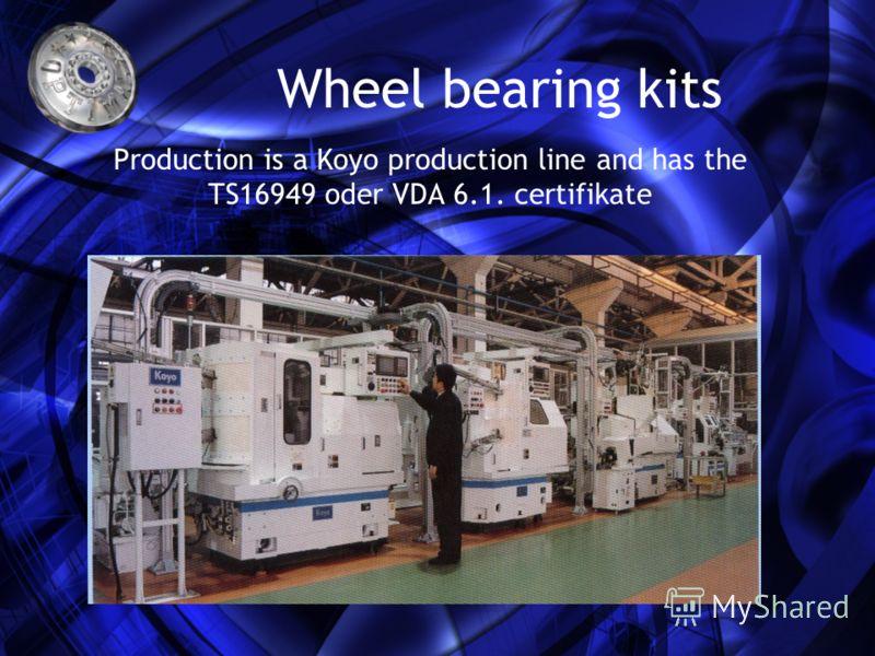 Единечните лагери се произведуваат во OEM квалитет а комплетните сетови се произведуваат во Минхен со сите потребни компоненти. Во асортиманот OPTIMAL има 4 генерации од WBK: Ball бearings, tappered ball bearings, integrated bearing units – so called