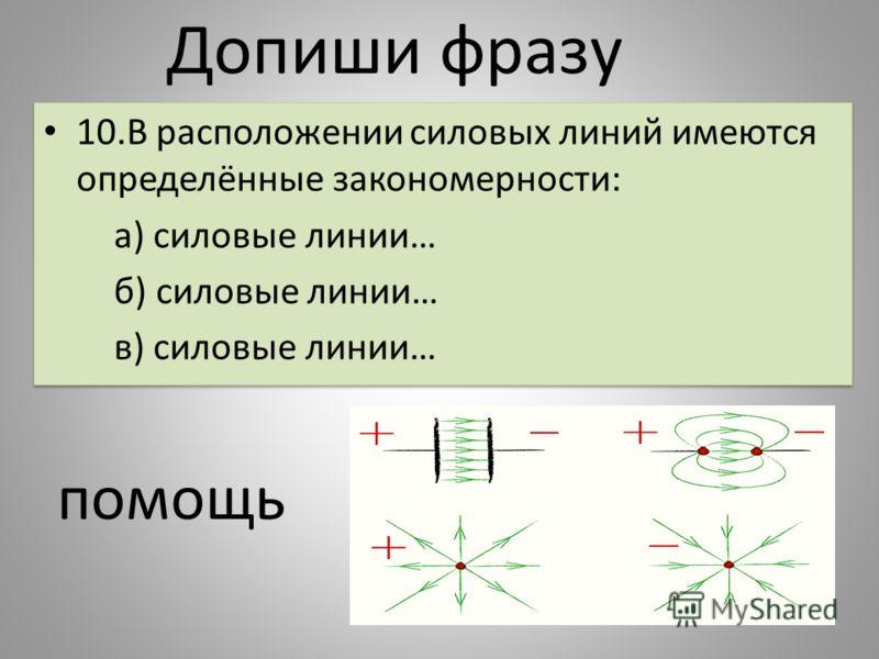 10.В расположении силовых линий имеются определённые закономерности: а) силовые линии… б) силовые линии… в) силовые линии… 10.В расположении силовых линий имеются определённые закономерности: а) силовые линии… б) силовые линии… в) силовые линии… Допи