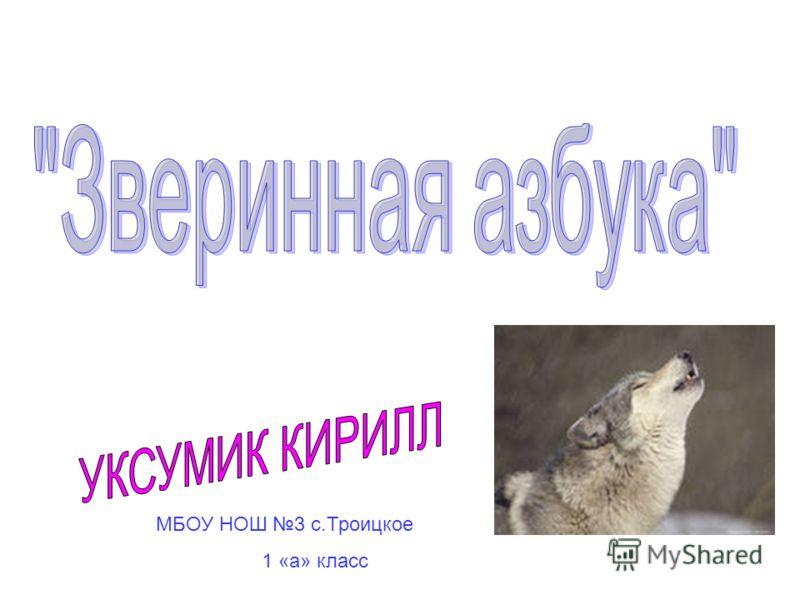 МБОУ НОШ 3 с.Троицкое 1 «а» класс