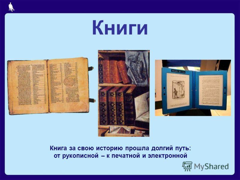 Книга за свою историю прошла долгий путь: от рукописной – к печатной и электронной Книги