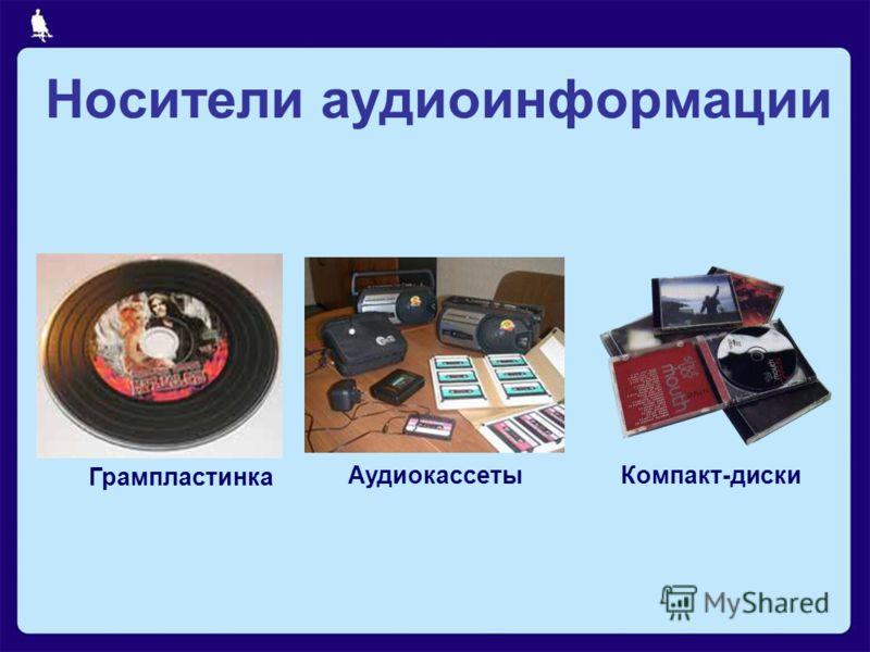 Грампластинка АудиокассетыКомпакт-диски Носители аудиоинформации