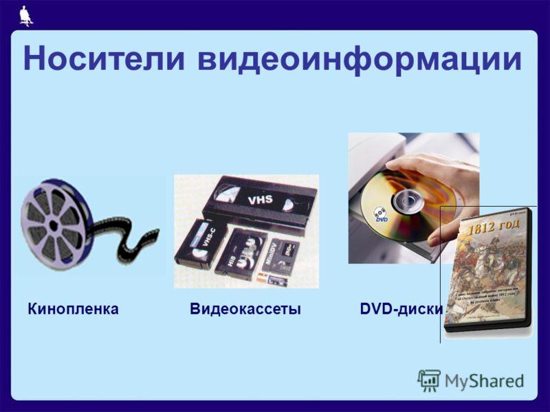 ВидеокассетыDVD-дискиКинопленка Носители видеоинформации