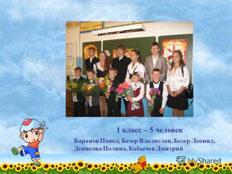 1 класс – 5 человек Баранов Павел, Безер Владислав, Безер Леонид, Денисова Полина, Кобычев Дмитрий