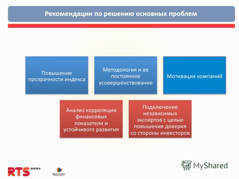 Рекомендации по решению основных проблем