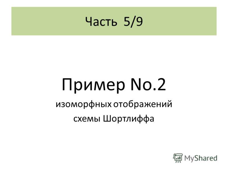 Часть 5/9 Пример No.2 изоморфных отображений схемы Шортлиффа