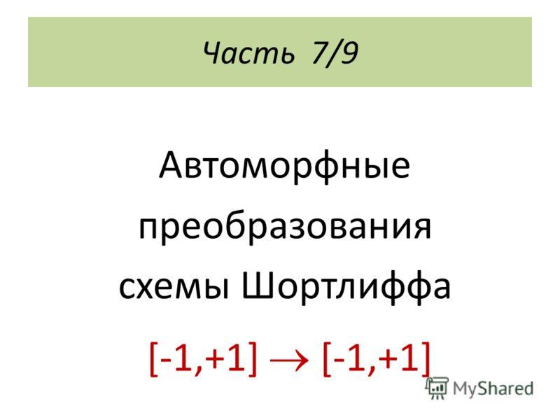 Часть 7/9 Автоморфные преобразования схемы Шортлиффа [-1,+1] [-1,+1]