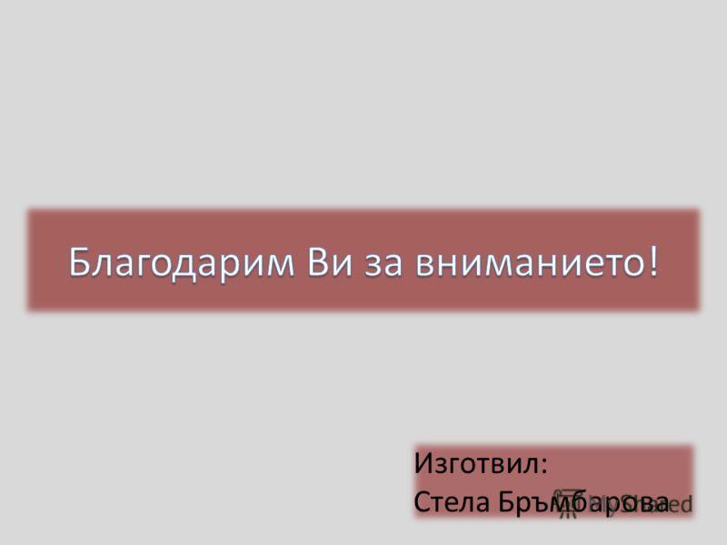 Изготвил: Стела Бръмбарова