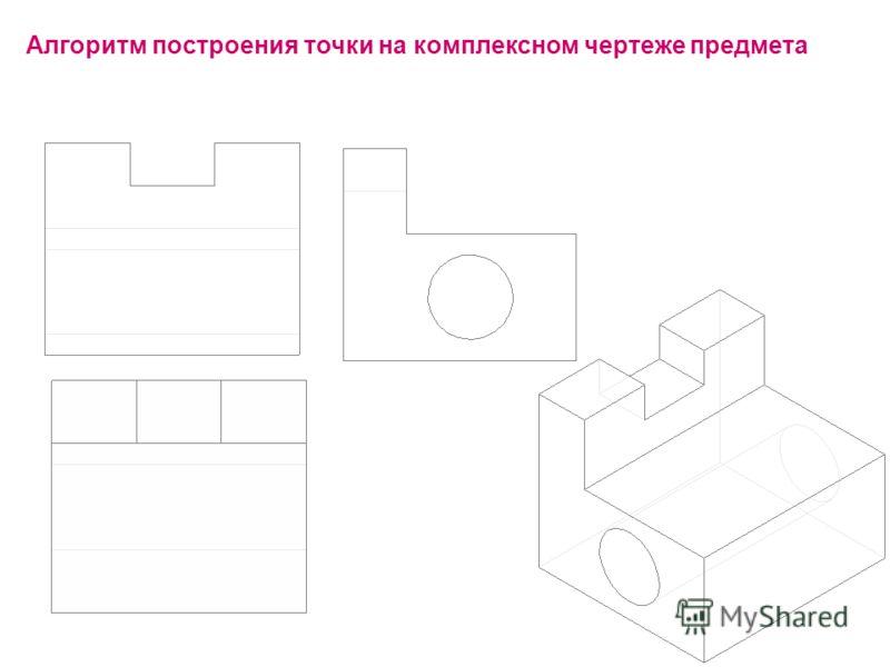 Алгоритм построения точки на комплексном чертеже предмета