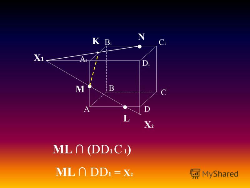А В С D А1А1 D1D1 С1С1 В1В1 M L N Х1Х1 K ML (DD 1 С 1 ) ML DD 1 = Х 2 Х2Х2
