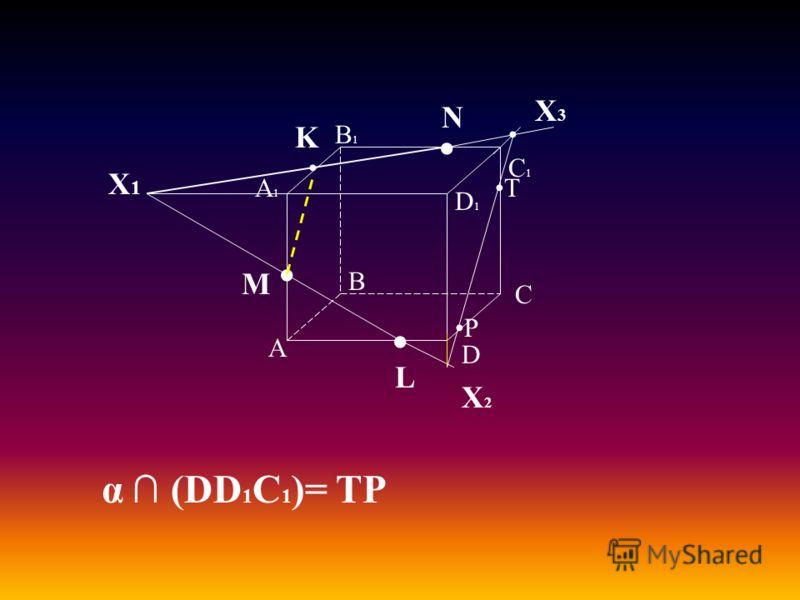 А В С D А1А1 D1D1 С1С1 В1В1 M L N Х1Х1 K Х2Х2 Х3Х3 α (DD 1 C 1 )= TP P T