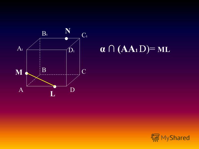 А В С D А1А1 D1D1 С1С1 В1В1 M L N α (АА 1 D)= ML
