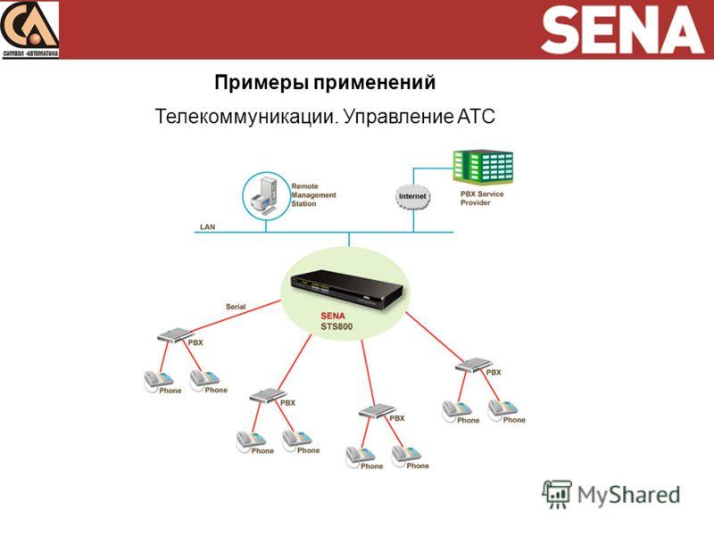 Примеры применений Телекоммуникации. Управление ATC