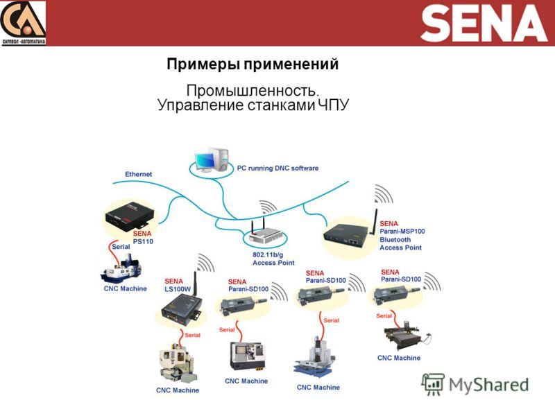 Примеры применений Промышленность. Управление станками ЧПУ