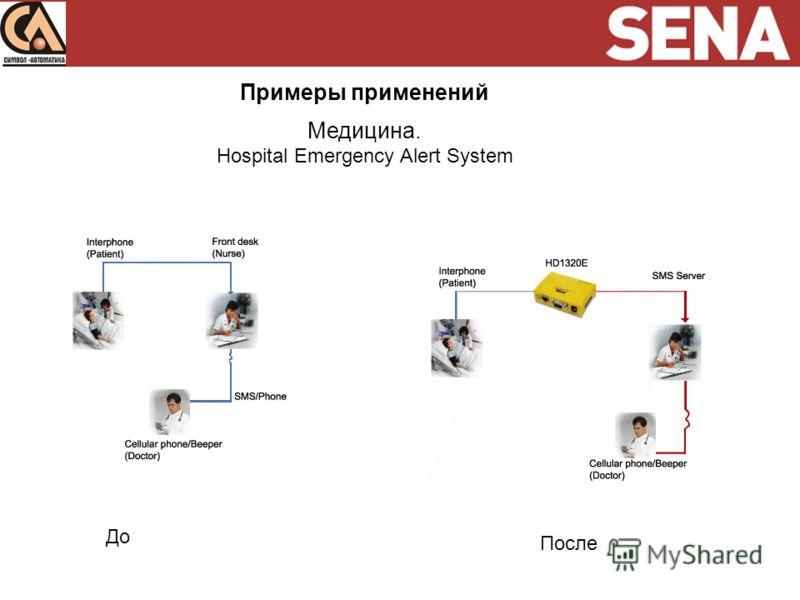 Примеры применений Медицина. Hospital Emergency Alert System До После