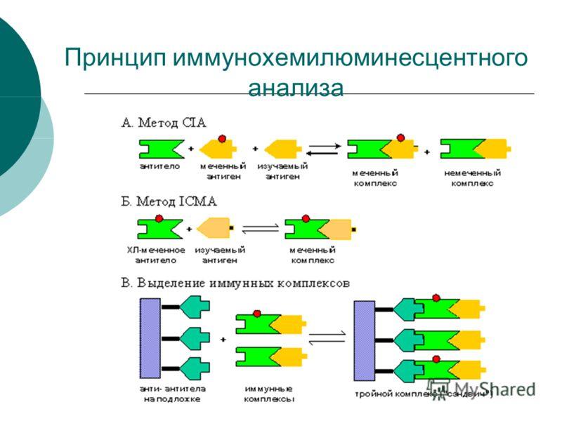 Принцип иммунохемилюминесцентного анализа