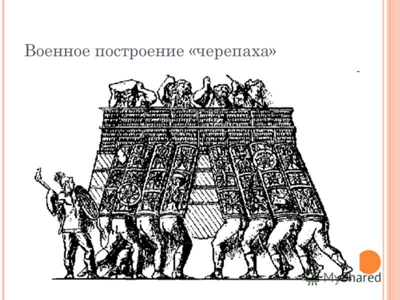 Военное построение «черепаха»