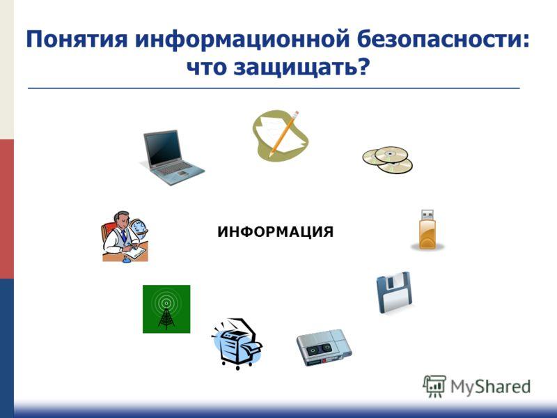 ИНФОРМАЦИЯ Понятия информационной безопасности: что защищать?